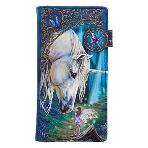 Nemesis Now Lisa Parker Fairy Whispers - Bolso con Grabado en Relieve, Color Azul, 18,5 cm