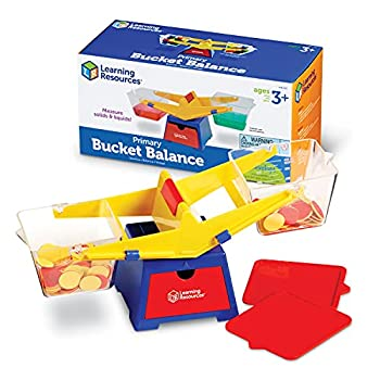 Learning Resources Primary Bucket Balance Teaching Scale Science/Math Classroom Scale Science for Kids Ages 3+