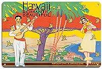 ハワイのロマンチックな美しい メタルポスター壁画ショップ看板ショップ看板表示板金属板ブリキ看板情報防水装飾レストラン日本食料品店カフェ旅行用品誕生日新年クリスマスパーティーギフト
