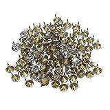 Banbo 100 x 7 mm Metall Strass Nieten Silber Nieten Runde Nieten Kristall Nieten