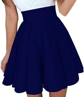 TOPUNDER Party Cocktail Mini Skirt Ladies Summer Skater Skirt for Women