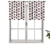 Hiiiman Cortina de bolsillo con aislamiento térmico para decoración del hogar con barra de cortina china tradicional, juego de 1, 137 x 45 cm para ventana de sótano