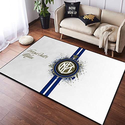 CXJC Europäische & amerikanische Art-Team-Printed Teppiche, Manchester United Barcelona Real Madrid Printed Teppiche, Fußball-Flagge Bodenmatten, Wohnzimmer Schlafzimmer Esszimmer Study Bodenmatten,