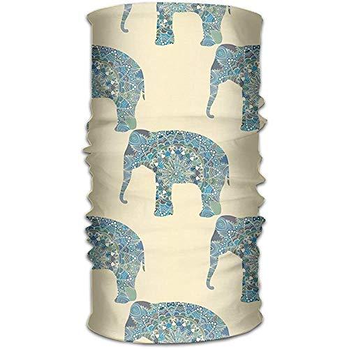 MAY-XCustom-headwear Piratenhut Unisex: Stilvoller Indischer Elefant, Schnell Trocknend, Mikrofaser-Kopfbedeckung, Outdoor-Magic-Bandana-Halsgamasche, Kopfwickelstirnband, Schal, Handschal