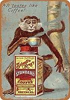レトロメタルサイン1893年シュヌル&クラッグズコーヒーヴィンテージ金属サイン