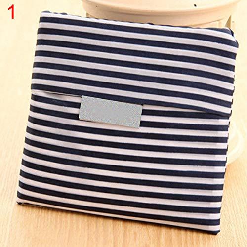 XKMY Bolsas de ahorro de espacio, linda señora bolsa plegable cuadrada de almacenamiento de compras reutilizable respetuoso del medio ambiente bolsa de mano (color: 2)
