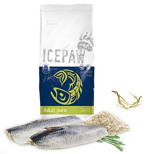 ICEPAW I Adult Pure I 14 kg I High Premium Trockenfutter I für Erwachsene Hunde I mit Fisch (Hering) und Reis I glutenfrei