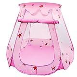 BelleStyle Kinder Spielzelt Bällebad Pop Up Spielhaus Prinzessin Haus für im Innen- und...