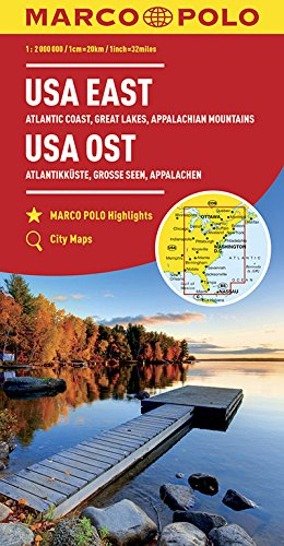 MARCO POLO Kontinentalkarte USA Ost 1:2 000 000: Große Seen, Appalachen, Atlantikküste, Florida (MARCO POLO Kontinental-/Länderkarten)