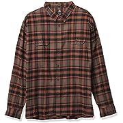 Dickies Men's Big & Tall Long Sleeve Flex Flannel Shirt, Mushroom/Auburn Plaid, 3X-Large