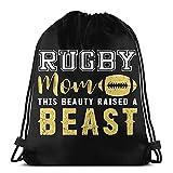 Lmtt Sac À Cordon Gym Rugby Mom cette beauté a élevé une bête lavable en machine voyage sportsac à dos sac de jeu sac Danse Sac À Dos pour 36*42cm
