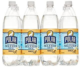 Polar Seltzer Water Bottles No Sodium and No Calories 33.8 Fl. Oz, (Pack of 12) (Vanilla)