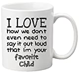 'Muggies' Favorite Child 11oz Funny Ceramic Mug - Unique Gift For Mom, Dad, Mother's Day, Father's Day, Christmas, Birthday. Get This To Your Parents - It Would Be Their New Favorite Coffee/Tea Mug