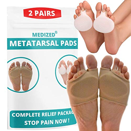 Metatarsal Pads Ball of Foot Cushions -Gel Ball of Foot Pads Sleeves - Mortons...