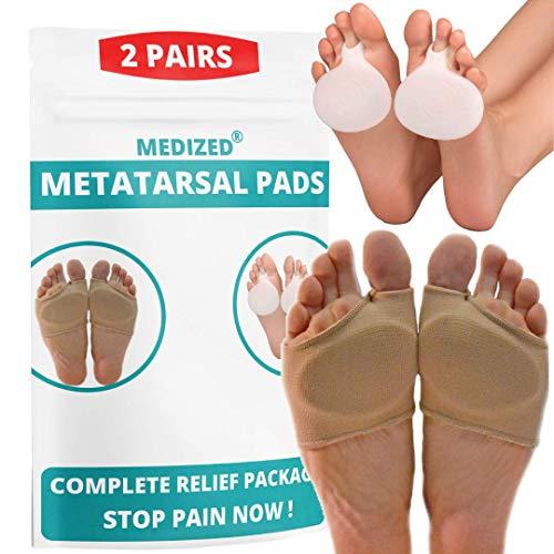 MEDIZED® Mittelfußkissen Silikon-Gel-Pad Schmerzen am Fußballen Vorfuß Schuh-Einlegesohle Zehenschmerzlinderung