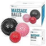 Proworks Spiky Massage Balls | Trigger Point Deep Tissue Roller Set for Muscle