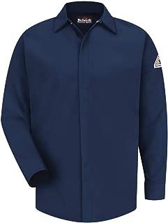 Men's SLS2 Concealed-Gripper Pocketless Long Sleeve Button Down Work Shirt