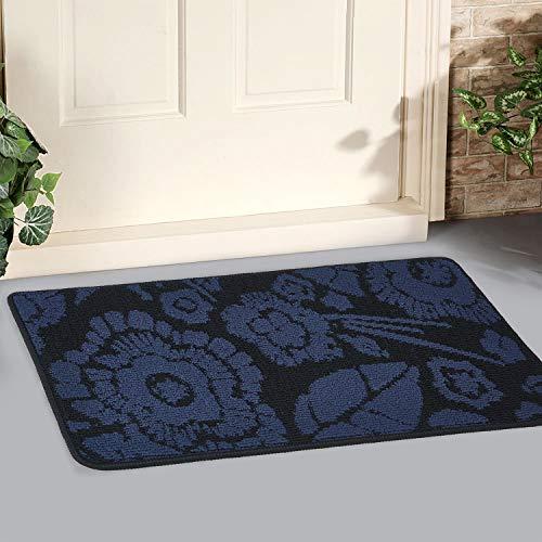"""GGPOWER Felpudo para Exterior, Interior y hogar, Antideslizante, Lavable, resiste la Suciedad, alfombras para Puerta de Entrada (17"""" X 30"""", Mandala Blue)"""