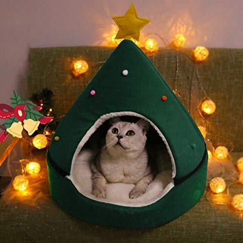 Árbol de Navidad, cueva para gatos, cama de cueva para gatos