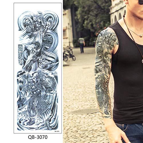 HXMAN 3 Pieces Water Transfer Tattoo Sticker Full Flower Arm Art Black Rose Flower Skull Snake Pattern Temporary Tattoo Sticker Qb-3021 Qb-3070 (en)