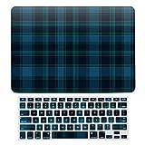 Coque de protection pour MacBook Air 13 A1466, A1369, coque rigide en plastique et clavier compatible avec MacBook Air 13, Blueberry Hill