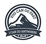 More Shiz You Can Go Fast I Can Go Anywhere 4x4 Vinyl Decal Sticker - Car Truck Van SUV Window Wall Cup Laptop - One 5.5 Inch Decal - MKS1397