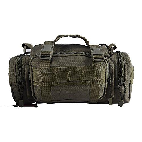 yakeda® Multifunktions Rucksack Plein Air Tasche Männer und Frauen Rucksack Taktik Reiten Brusttaschen Freizeit Paket Schulter diagonal Rucksack 10L–b88023 vert militaire 13 * 10 * 32CM
