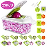 23 Pieces Vegetable Cutter Sedhoom Fruit Cutter Vegetable Choppers Mandolin Slicer Onion Chopper