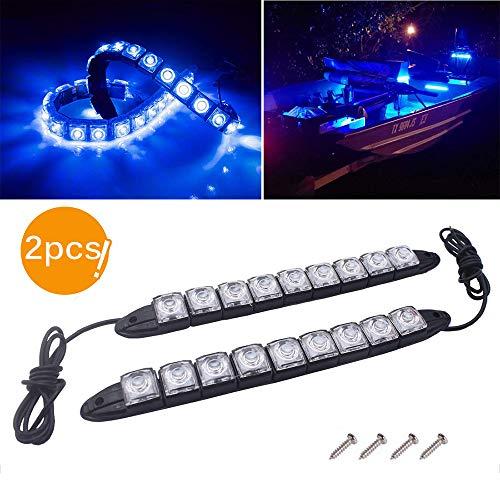 Winbang Luces para Barcos, Un Par Lámparas de Navegación Piloto Marino para Yates Luces de Cubierta para Barcos IP67 Luz LED a Prueba de Agua a Prueba de Agua (Luz Azul)