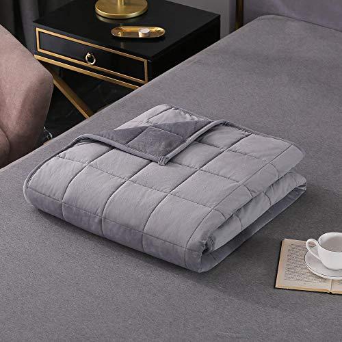 N / A Therapiedecke,Premium Material 106% Baumwolle - Autism Sensory Schwere Decke für den Schlaf, reduziert Angstzustände, Schlaflosigkeit,4,152 * 203cm 9.1kg