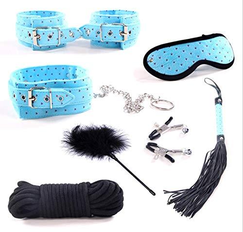 Party speelgoed perzik hart pluche 7-delig lederen pak slaapkamer spel kostuum (blauw) -88