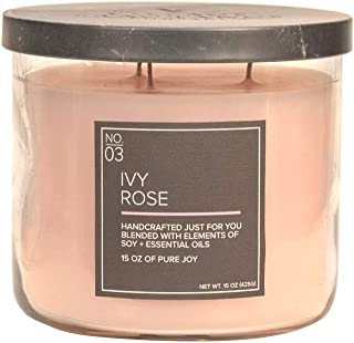 Village Candle Ivy Rose 15 oz Medium Bowl Scented Candle