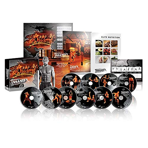 INSANITY 6O Day Base Kit + Bonus-14 DVD Complete Workout