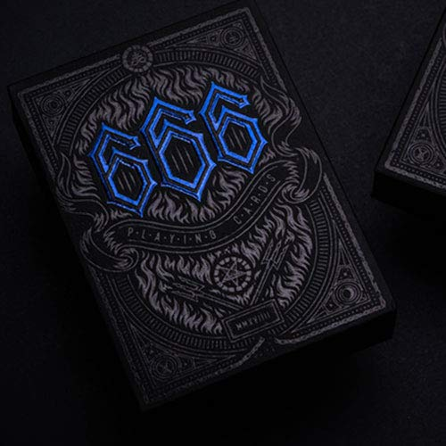 SOLOMAGIA The 666 Blue Playing Cards by Riffle Shuffle