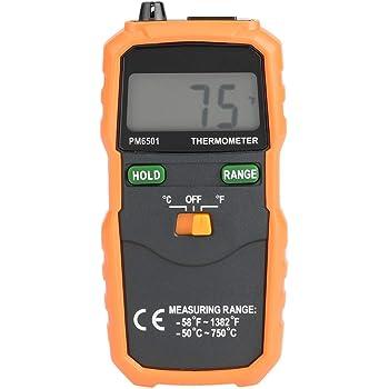 Termómetro digital termopar, PEAKMETER PM6501 Medidor de ...