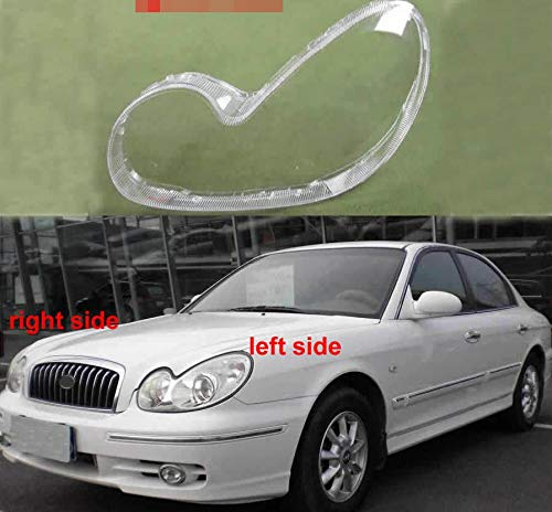 Wang shufang WSF-Headlight Cover, Scheinwerfer-Abdeckung for Hyundai Fit for Sonata 2003 2004 2005 2006 2007 Transparent Abdeckung Scheinwerfer Glaswasc Scheinwerfergehäuse strapazierfähiges