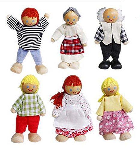 Black Temptation 6 Bonnes Belle Famille Membres Poupées Jouets Enfants Filles Play House Toys