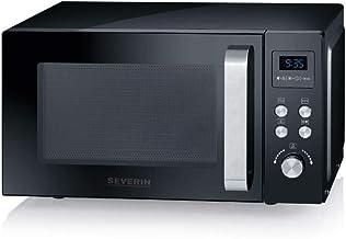 SEVERIN 3-in-1 Mikrowelle mit Grill und Heißluftfunktion bis zu 200 °C, Minibackofen..