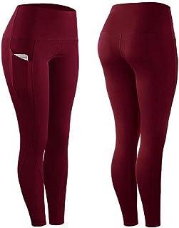 comprar comparacion B/H Ial para Danza Correr Trotar Ejercicio,Pantalones Yoga portivos Bolsillo, Mallas Ejercicios aeróbicos-Vino Tinto_XL,po...