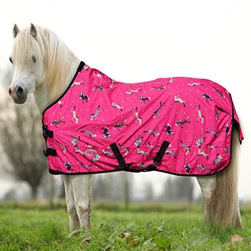 York Ponydecke Regendecke für Pony Horsi pink Koppeldecke Weidedecke Winterdecke (105 cm)