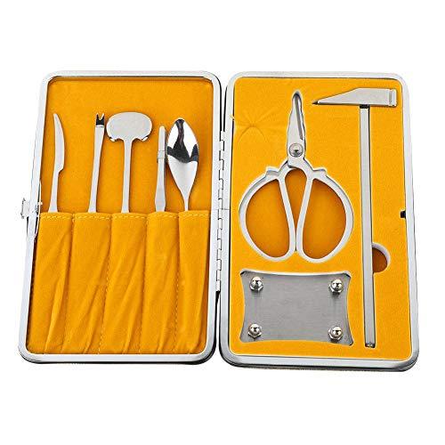Galletas y herramientas de cangrejo de 8 piezas, galleta de abrigo de pierna de langosta de mariscos de acero inoxidable