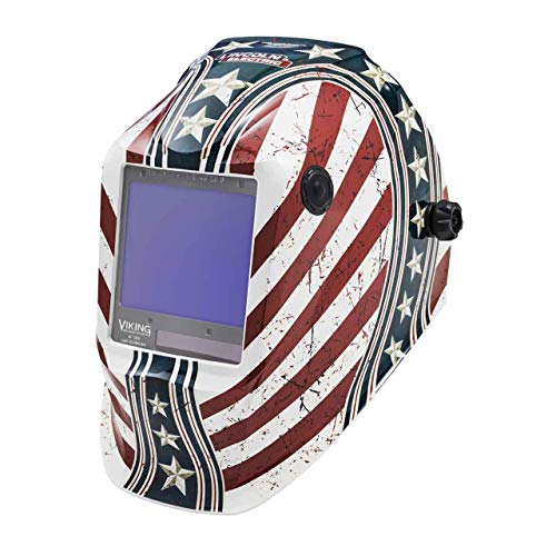 Lincoln Electric K3683-4 VIKING 3350 Auto Darkening Welding Helmet with 4C Lens Technology, Daredevil