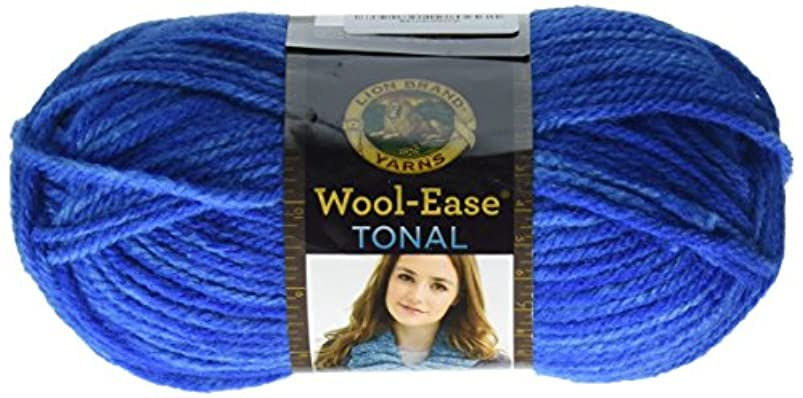 Lion Brand Yarn 635-108 Wool-Ease Tonal Yarn, Lapis jdmhpqpk203863