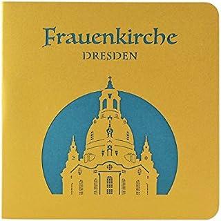 Wunderkarte Dresdner Frauenkirche türkis: 3D, Klappkarte, M