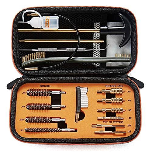 9mm Cleaning Kit, GUNACC Pistol Cleaning Kit, Handgun Cleaning Kit, for .22 .357 / .38 / 9mm .40 .45 Caliber Pistol