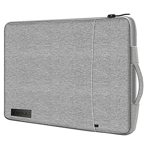 iSOUL Laptop-Schutzhülle, stoßfest, wasserdicht, für 15-Zoll-MacBook / XPS 15 / Chromebook / HP / Lenovo, 15 Zoll (38,1 - 39,6 cm), Grau