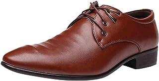 STRIR Zapatos Oxford Hombre con Cordones para Vestir de Negocios Boda Traje Formal Zapatos del Elevador para Hombre Elegan...