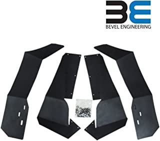 Bevel Engineering Extended Fender Flares Mud Flaps for RZR 4 900 2015-2019 Polaris RZR-S 900 & 2019 RZR-S 1000 - Full Set Front/Rear