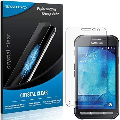 SWIDO Schutzfolie für Samsung Galaxy Xcover 3 VE [2 Stück] Kristall-Klar, Hoher Härtegrad, Schutz vor Öl, Staub und Kratzer/Glasfolie, Displayschutz, Displayschutzfolie, Panzerglas-Folie