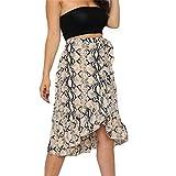 Rainwatershop - Falda plisada para mujer con estampado de animales, falda plisada, suave y cómoda, F4 Negro Negro ( Medium
